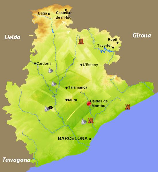 Caldes De Montbui Mapa.Caldes De Montbui Los Pueblos Mas Bonitos De Espana